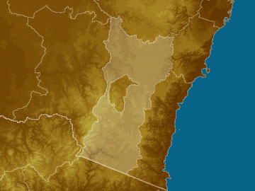 Southern Tablelands map