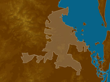 Brisbane map