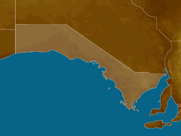 Eastern Eyre Peninsula map