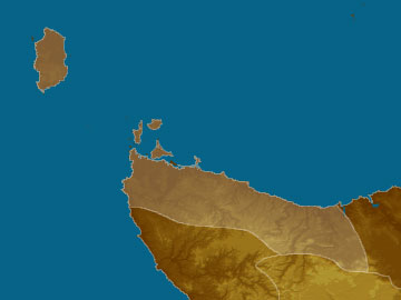 King Island map