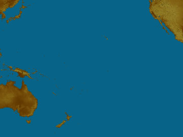 Oceania map