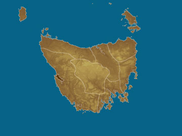 Tasmania map