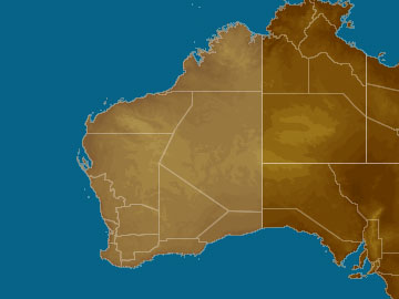 Western Australia map