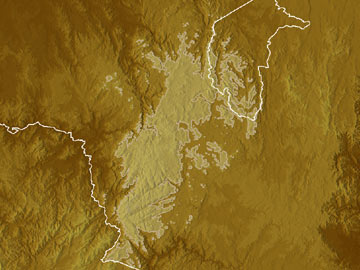 Snowy Mountains map